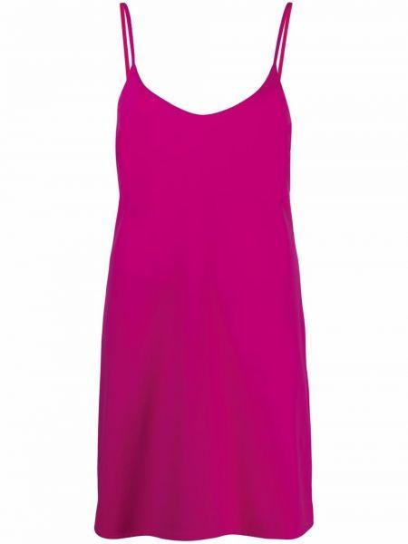 Różowa sukienka z dekoltem w serek Fisico