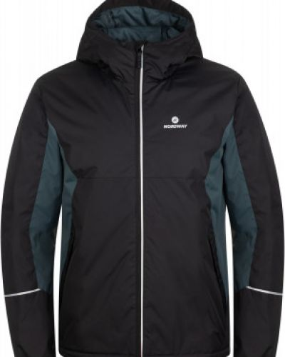 Черная утепленная короткая куртка для бега Nordway