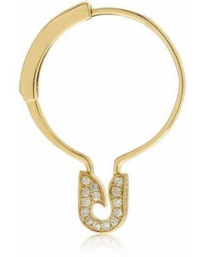 Żółte złote kolczyki ze złota z diamentem Yvonne Leon Paris