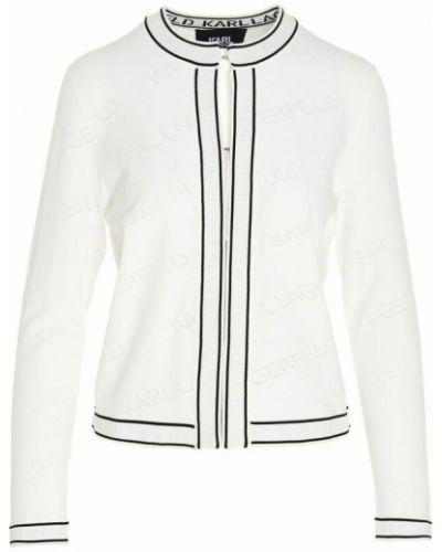 Kardigan - biały Karl Lagerfeld