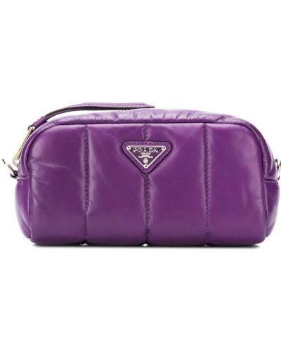Косметичка на молнии фиолетовый Prada