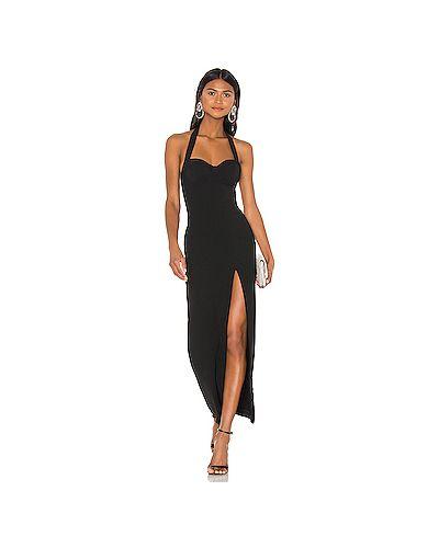 Вечернее платье с чашками черное Nbd