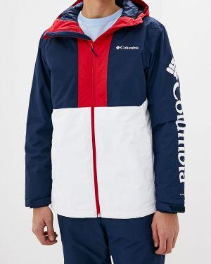 Куртка горнолыжная осенняя синяя Columbia