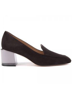 Серые кожаные туфли Stuart Weitzman