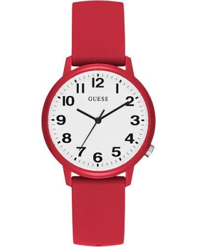 Кварцевые часы водонепроницаемые с силиконовым ремешком Guess