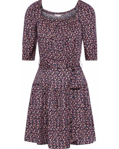 Sukienka mini z wiskozy z printem Rebecca Taylor