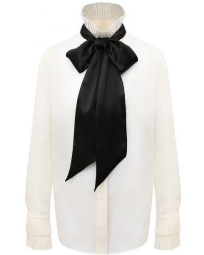 Шелковая блузка - бежевая Ralph Lauren