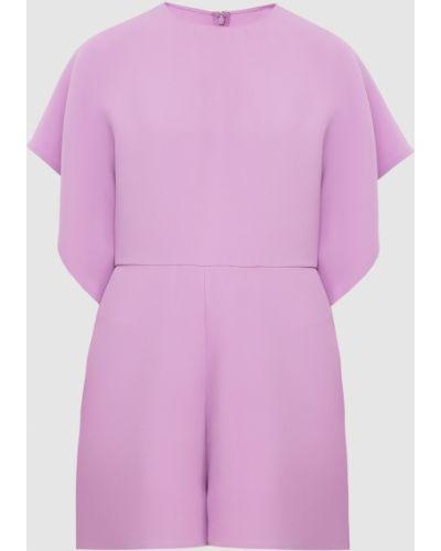 Фиолетовый шелковый комбинезон Valentino
