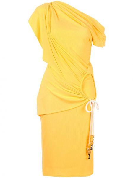 Платье мини миди с рукавами Acler