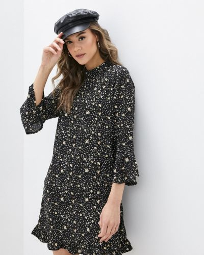 Прямое черное платье Yumi