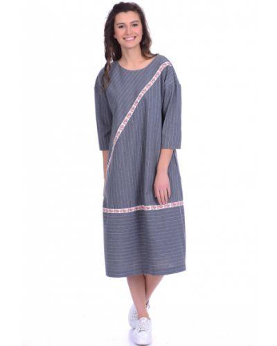 Летнее платье в полоску в стиле бохо Lautus