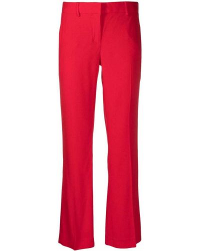 Со стрелками красные брюки из вискозы Lautre Chose