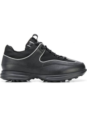 Кожаные черные кроссовки на шнуровке Camper