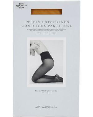 Желтые колготки Swedish Stockings