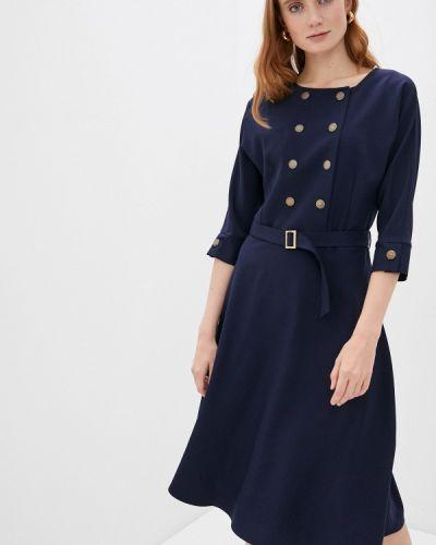 Прямое синее платье Mari Vera