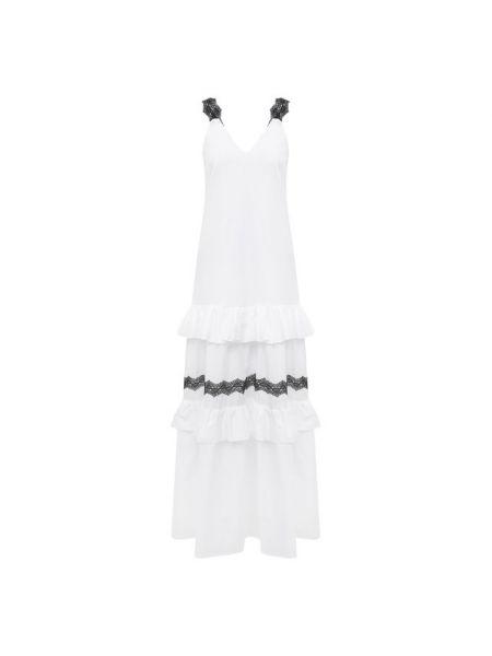 Льняное платье - белое La Fabbrica Del Lino
