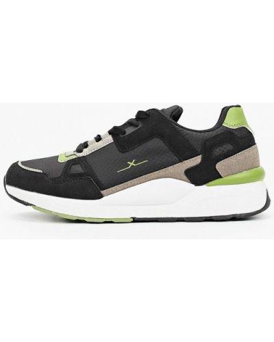 Черные кроссовки из нубука X-plode