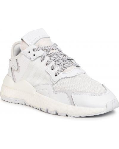Klasyczne białe joggery skorzane Adidas