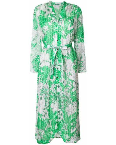 Платье с цветочным принтом оверсайз с V-образным вырезом Roseanna