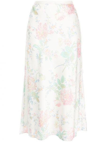 Платье миди в цветочный принт - белое Polo Ralph Lauren
