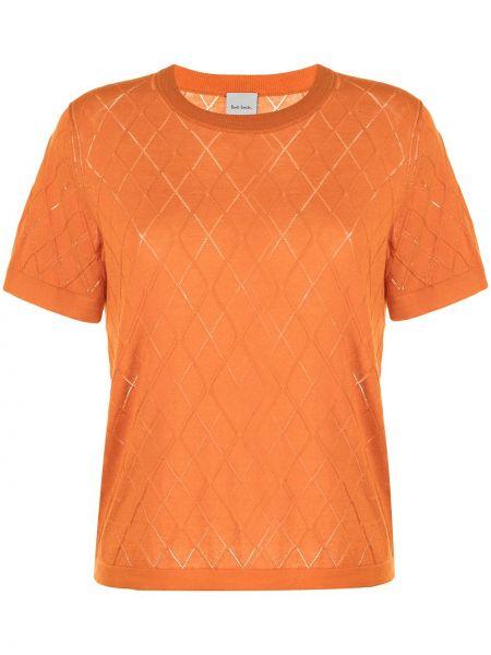Оранжевая прямая футболка Paul Smith