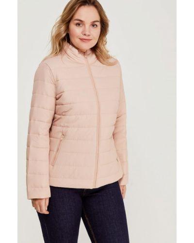 Розовая утепленная куртка Violeta By Mango