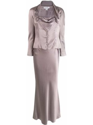 Шелковый костюм - серый Christian Dior