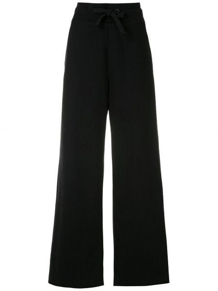 Черные свободные брюки свободного кроя с карманами на шнурках Osklen