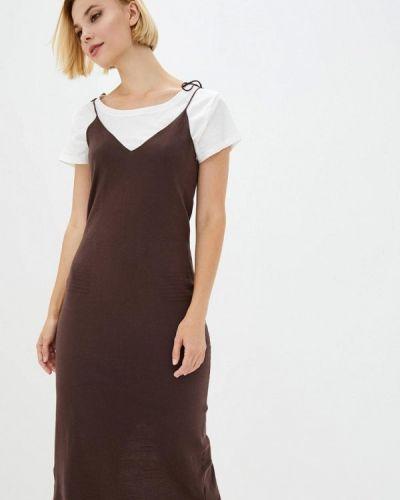 Платье - коричневое Nataclub