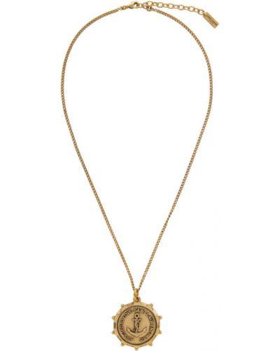 Медальон золотой Saint Laurent