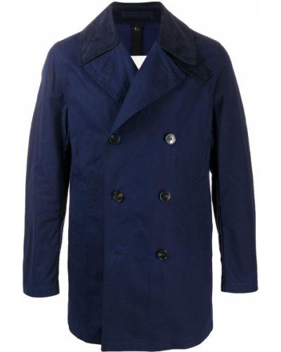 Bawełna z rękawami niebieski prochowiec z kieszeniami Mackintosh