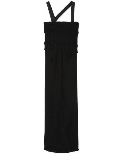 Трикотажное черное платье без рукавов Stefanel