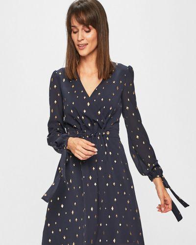 Джинсовое платье с запахом расклешенное Trussardi Jeans