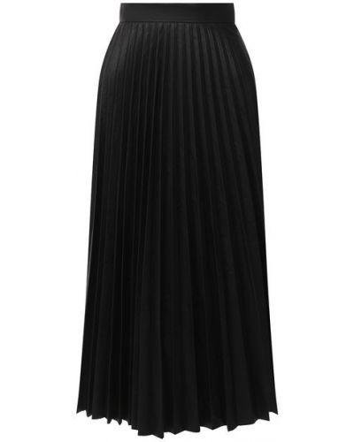 Юбка из вискозы - черная Mm6