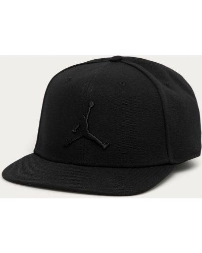 Czarna czapka z daszkiem bawełniana Jordan