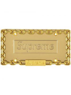 Брелок металлический - желтый Supreme