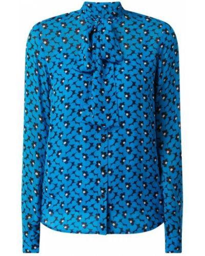 Bluzka z wiskozy turkusowa z wiązaniami Michael Michael Kors