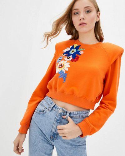 Оранжевый свитшот O&j