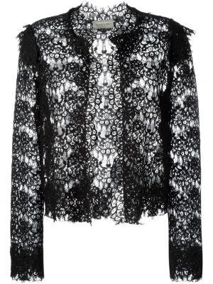 Открытый кружевной черный пиджак Lanvin