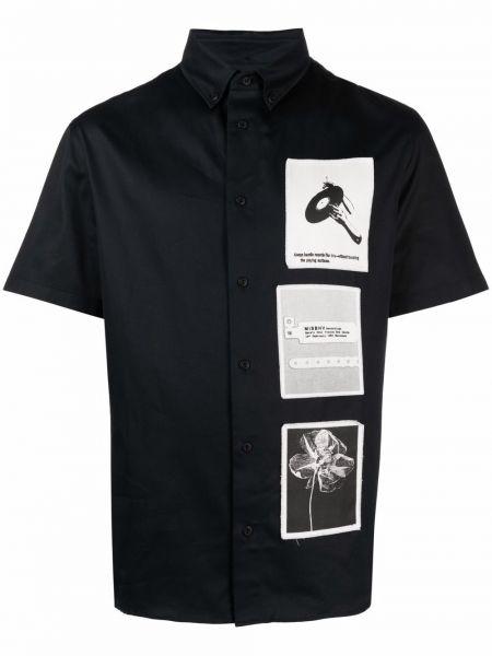 Czarna koszula bawełniana krótki rękaw Misbhv