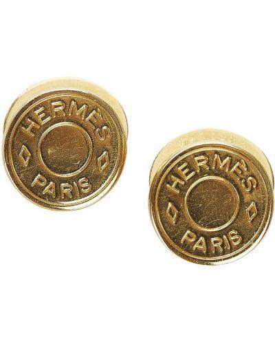 Żółte spinki do mankietów Hermès Vintage