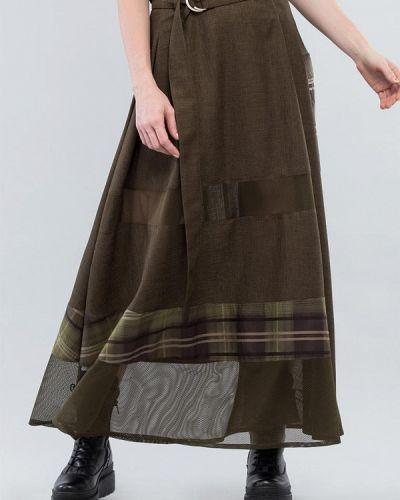 Зеленая юбка свободного кроя Maxa