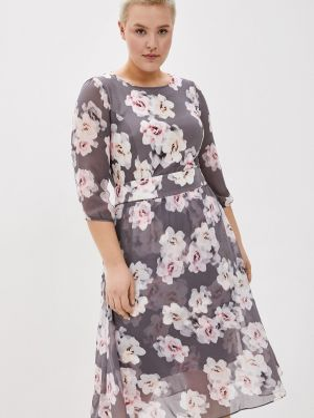 Серое повседневное платье Kontaly
