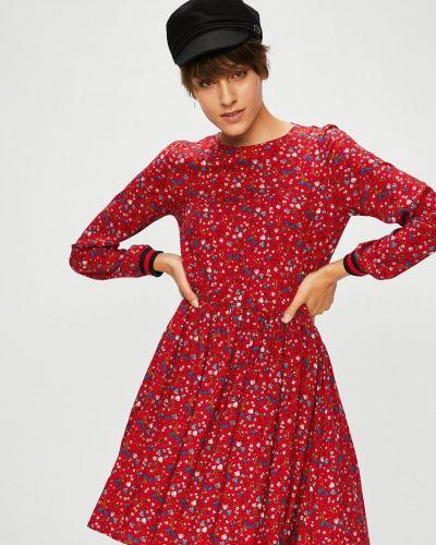 Платье мини с вырезом из вискозы Medicine