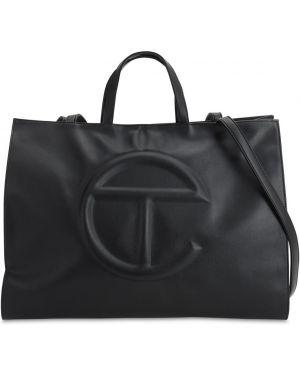 Czarna torba na ramię skórzana oversize Telfar