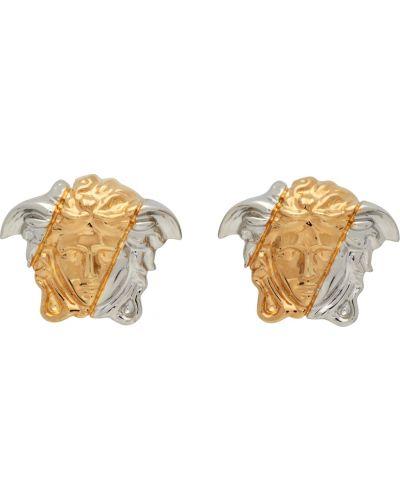 Серьги золотые Versace