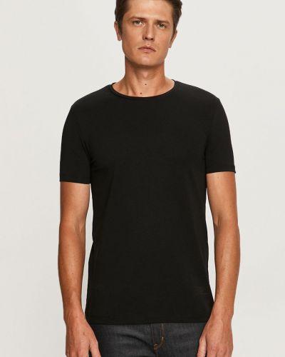 Czarny t-shirt bawełniany Hugo