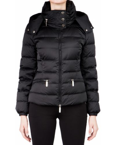 Куртка с перьями - черная Elisabetta Franchi