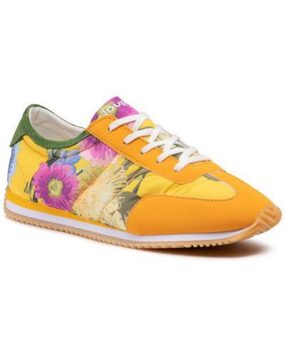 Żółte sneakersy Desigual