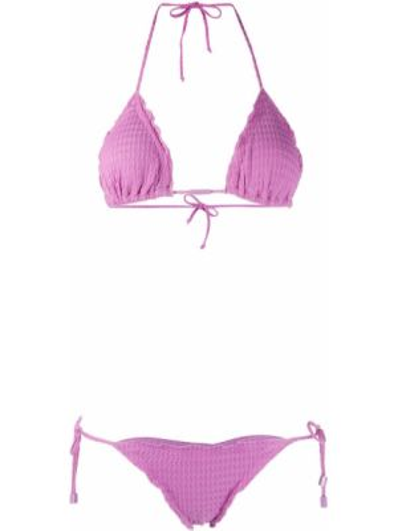 Фиолетовые бикини с завязками эластичные с декоративной отделкой Cia Marítima